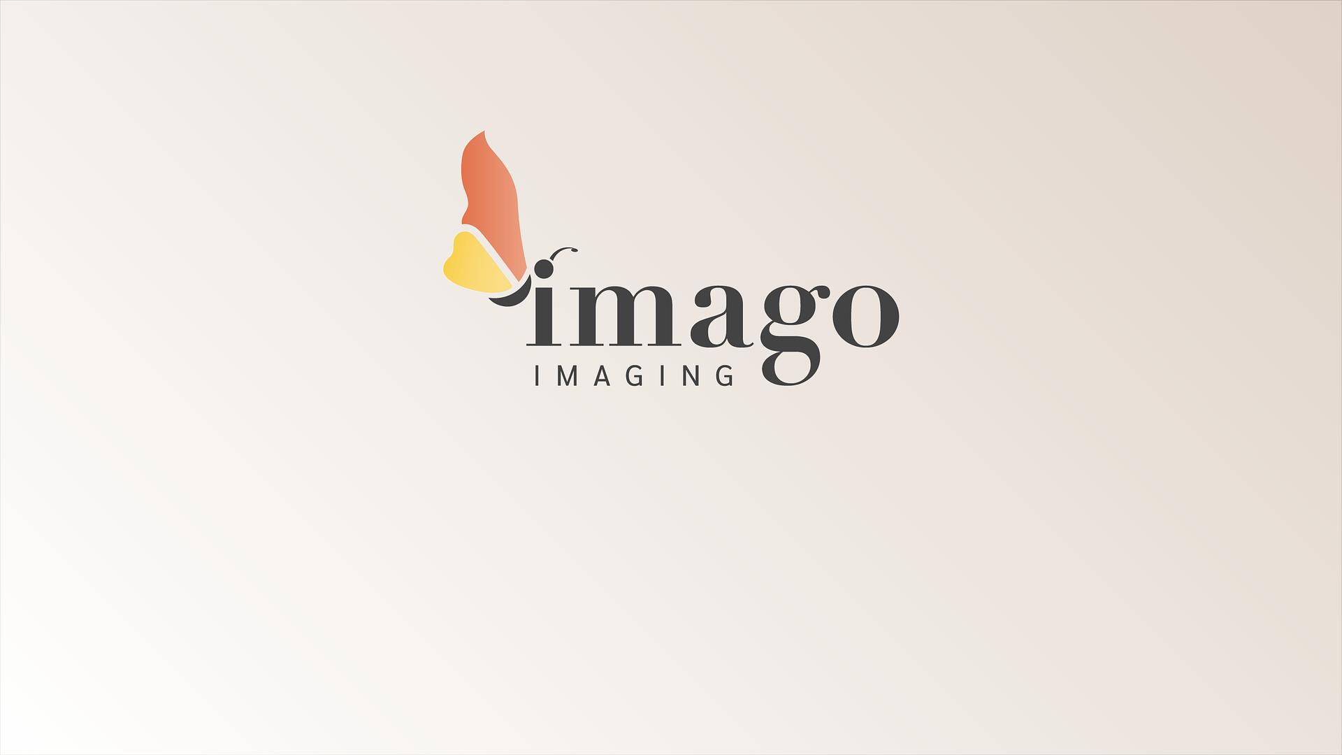 Imago Imaging logo on tan background