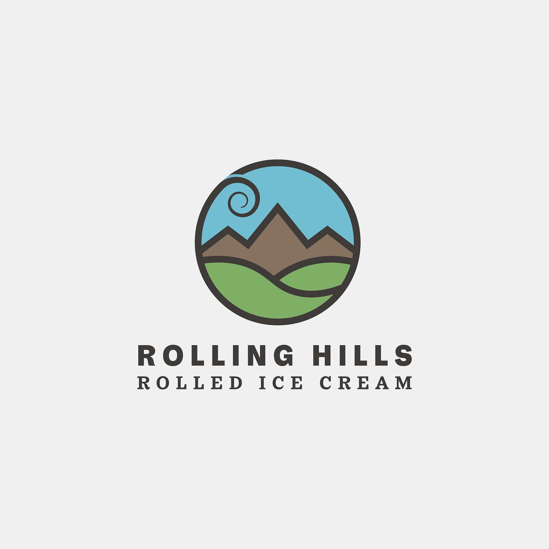 Rolling Hills Rolled Ice Cream logo